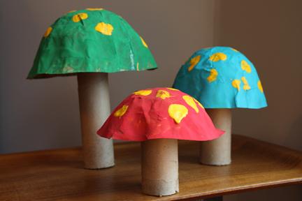 Wonka Mushrooms Recycled Crafts
