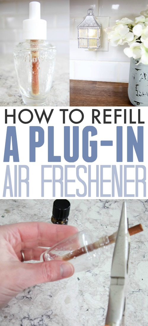 How to refill a plug-in air freshener