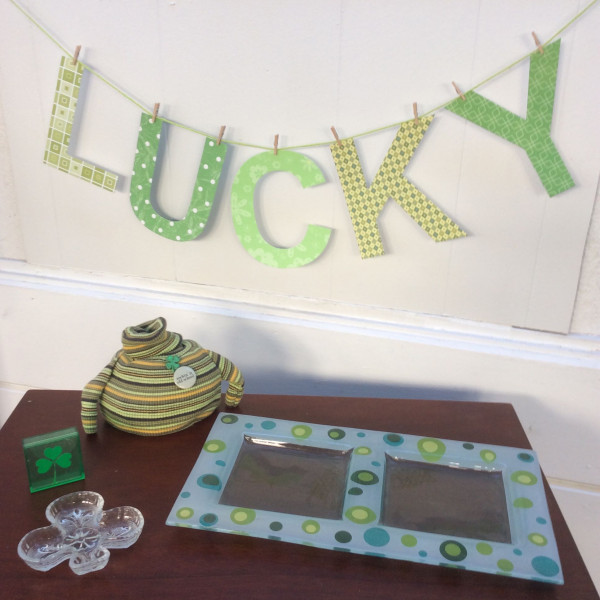 Lucky St. Patrick's Day Banner, Stefanie Girard, Liberty Sprinkles, Die cut letters