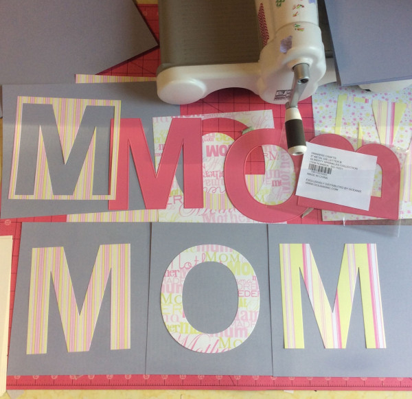 Easy die cut MOM Mother